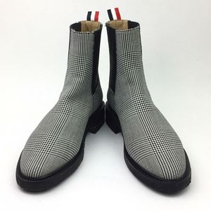 Thom browne PRINCE OF WALES CREPE SOLE CHELSEA